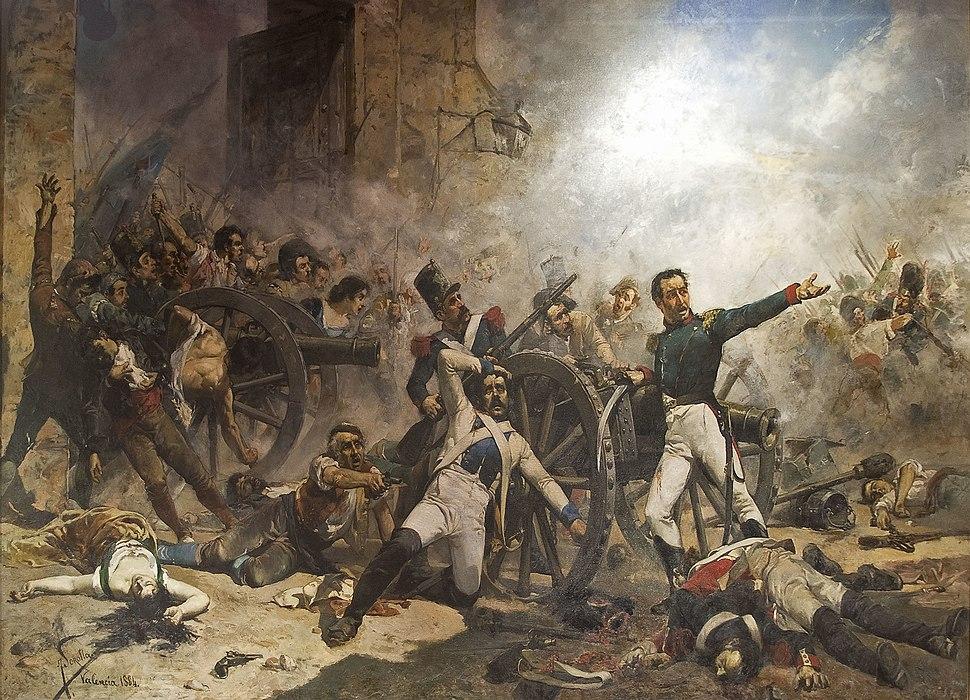 El Dos de Maig. Defensa del Parque de Artilleria de Montele%C3%B3n, en Madrid, el d%C3%ADa Dos de Mayo de 1808.