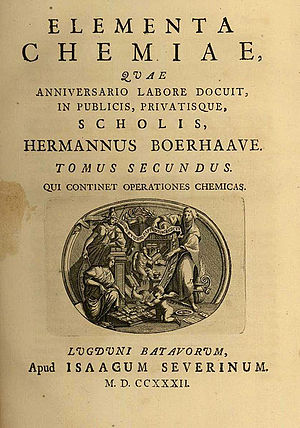 Herman Boerhaave - Elementa Chemiae-Boerhaave