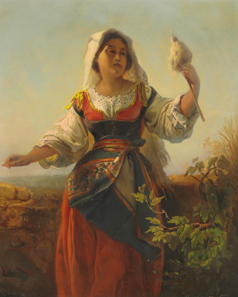 Элизабет Иерихау Бауман - En kvinde fra Sardinien i egnsdragt - 1880.png