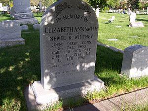 Elizabeth Ann Whitney - Elizabeth Ann Whitney's grave marker