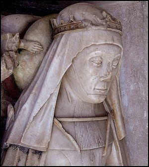 Elizabeth of York, Duchess of Suffolk - Elizabeth Plantagenet, Duchess of Suffolk, detail from her effigy in St Andrew's Church, Wingfield, Suffolk
