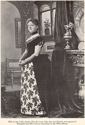 Charles W. Goodyear - Ella in one of the dresses that she wore when she and Charles were guests of President and Mrs. Grover Cleveland in the White House.