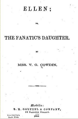 Ellen; or, The Fanatic's Daughter - Title page of the original 1860 text