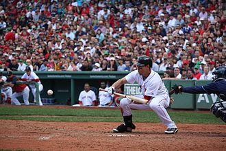Bunt (baseball) - Jacoby Ellsbury bunting
