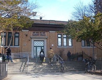 Elmhurst, Queens - The former Elmhurst Queens Library branch