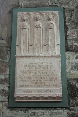 Pilkington Jackson - Memorial to Elsie Inglis in St Giles' Cathedral, Edinburgh (1922)