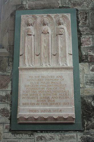 Pilkington Jackson - Memorial to Elsie Inglis in St Giles' Cathedral, Edinburgh (1922)