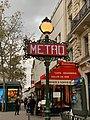 Entrée Station Métro Michel Ange Auteuil Paris 2.jpg