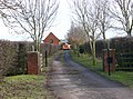 Entrance drive to Field Barn from Fosse Way - geograph.org.uk - 1711776.jpg
