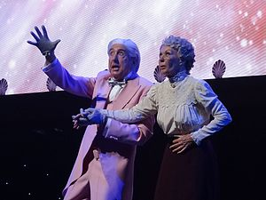 Eric Idle - Idle (left) and Carol Cleveland performing the Galaxy Song in 2014