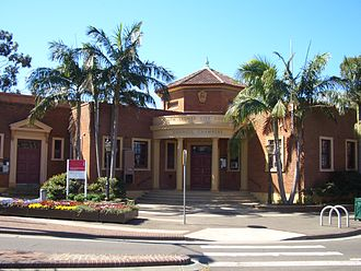 Erskineville, New South Wales - Erskineville Town Hall on Erskineville Road.