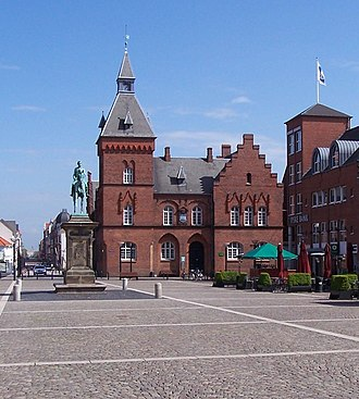 Hans Christian Amberg (architect) - The Tinghus in Esbjerg (1891)