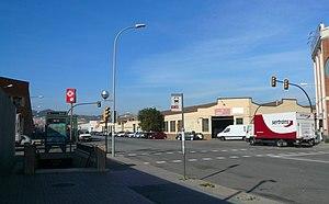 Verneda (Barcelona Metro) - Entrance to the station.