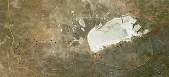 Etosha National Park - Satellite picture of the park