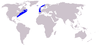 Eubalaena glacialis range map