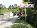 Euville (Meuse) city limit sign.JPG