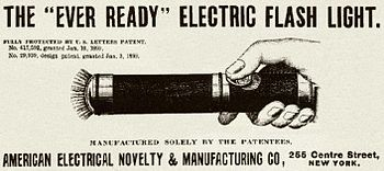 1899 Electrical Age Magazine Ad For Ever Ready Electric Flashlight