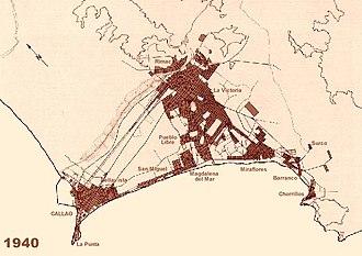 Demographics of Lima - Image: Evoluciondelima 1940