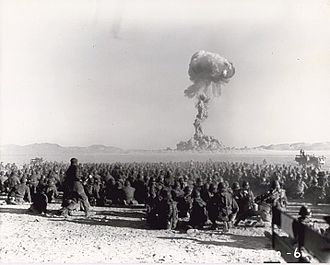 Nuclear warfare - The U.S. and USSR conducted hundreds of nuclear tests, including the Desert Rock exercises at the Nevada Test Site, USA, pictured above during the Korean War to familiarize their soldiers with conducting operations and counter-measures around nuclear detonations, as the Korean War threatened to expand.