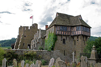Stokesay - The castle viewed from the churchyard