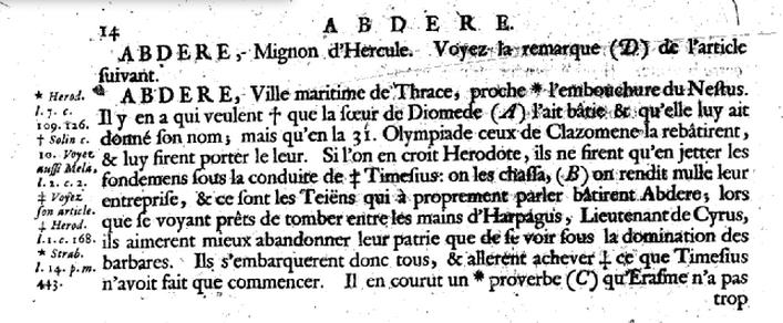 Extrait article Bayle 1697