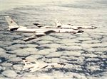 F-8E Crusader of VF-51 intercepting Soviet Tupolev Tu-16s 1963.jpg