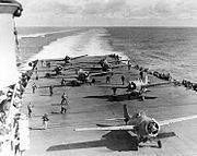 F4Fs VF-8 launch USS Hornet 2 1942