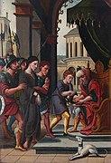 Jésus devant Pilate, détail du panneau gauche
