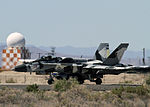FA-18A Hornet of VFC-12 taxis at NAS Fallon in April 2015.JPG