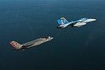 FA-18F Super Hornet of VX-23 refuels F-35C on 26 June 2018 (180626-N-ZB537-071).JPG