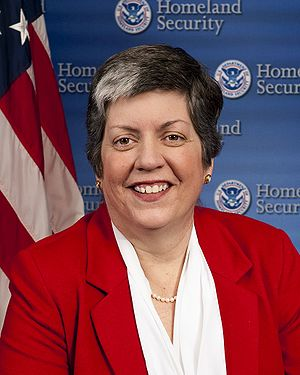 300px FEMA   39840   Official portrait of Department of Homeland Security Secretary Janet Napolitano Another ICE Agent, Sunil Walia, Accuses Big Sis DHS Chief Janet Napolitano of Discrimination