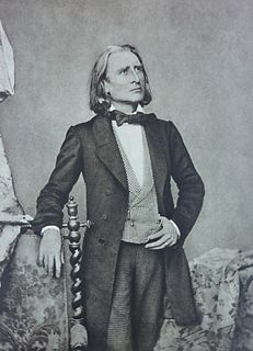 Franz Liszt Hungarian composer and pianist