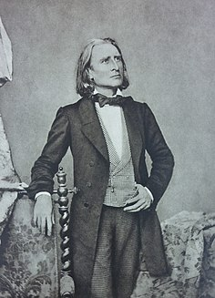 Liszt in 1858 (Source: Wikimedia)