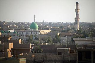 Fallujah City in Al Anbar, Iraq