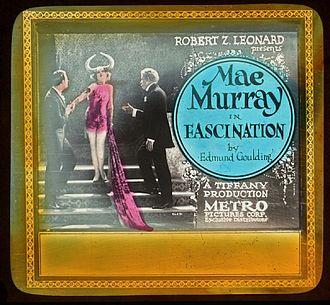 Fascination (1922 film) - Lantern slide for the film.
