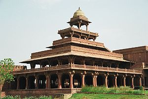 Imperial palace at Fathepur Sikri, near Agra, ...
