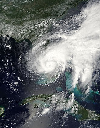 Tropical Storm Fay (2008) - Image: Fay 19 aug 2008 1615Z Cropped