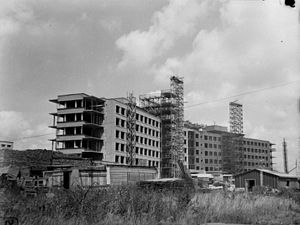 Hôpital Maisonneuve-Rosemont - Construction of the Sanatorium Saint-Joseph (now the pavillon Rosemont of the hôpital Maisonneuve-Rosemont) located on boulevard Rosemont in Montréal