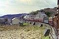 Ffestiniog Railway train approaches Tanygrisiau - geograph.org.uk - 1656506.jpg