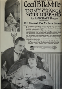 Film Daily 1919 Cecil B DeMille Don't Change Your Husband