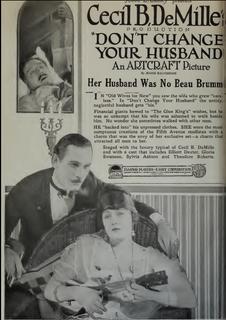 <i>Dont Change Your Husband</i> 1919 film