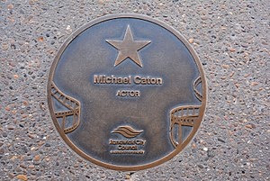Michael Caton - Caton's plaque at the Australian Film Walk of Fame, The Ritz Cinema, Randwick, Sydney