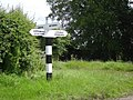 Fingerpost at 'The Toft' crossroads - geograph.org.uk - 847653.jpg