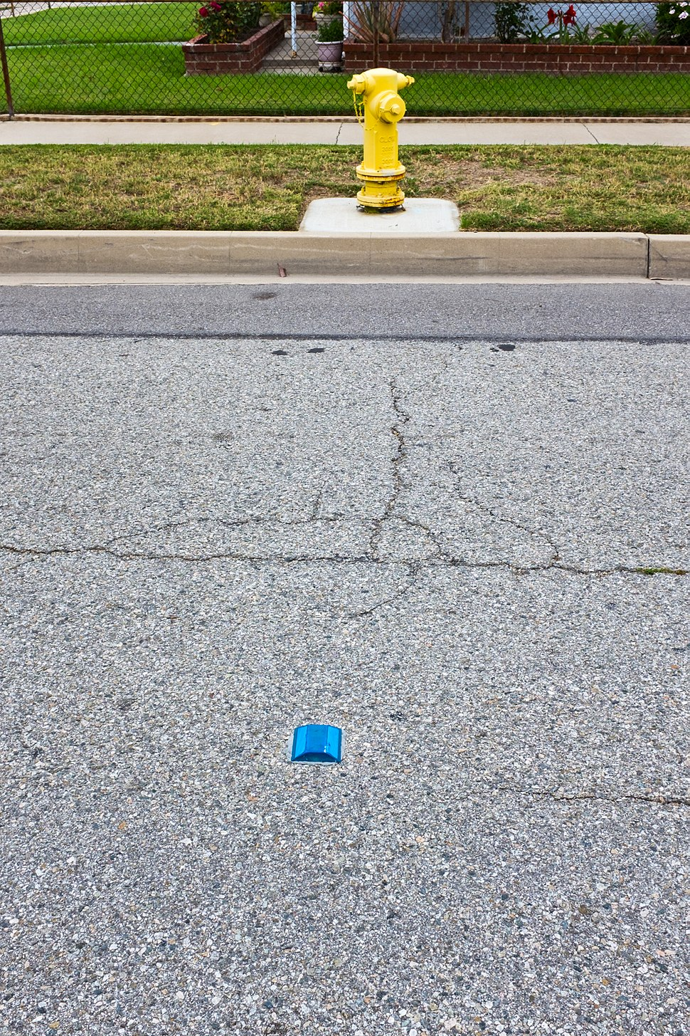 Fire Hydrant and blue reflector