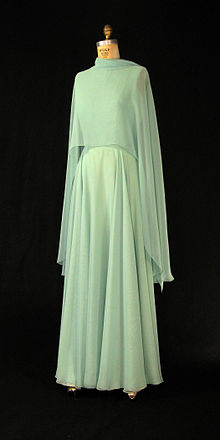 First Lady Betty Ford's green chiffon gown with cape.jpg