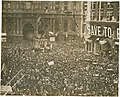 First News of Peace! Confetti thrown by happy crowds. Liberty sings. Flags waved. Nov. 11-1918. (12795375585).jpg