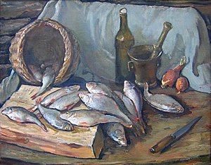 Saint Petersburg Union of Artists - Image: Fish and basket still life