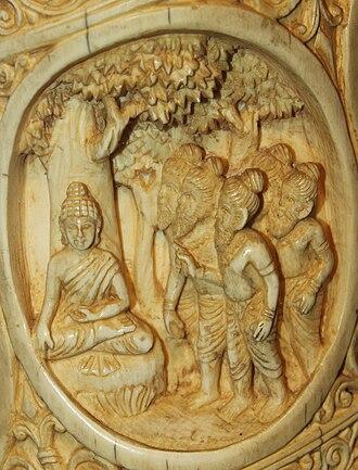 Kaundinya - The five ascetics meet Siddhartha.