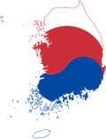 Flag-map of South Korea.svg