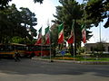 Flag of Iran in the Nishapur Railway Station square 01.JPG